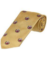 Brooks Brothers - Red Fleece Yellow Crest Silk Tie - Lyst