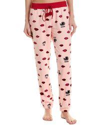 Betsey Johnson Royal Plush Pant - Pink