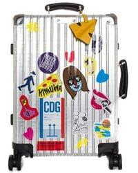Fendi X Rimowa Limited Edition Silver-tone Aluminum Carry-on Luggage - Metallic