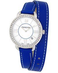 Swarovski Women's Aila Day Double Tour Watch - Blue