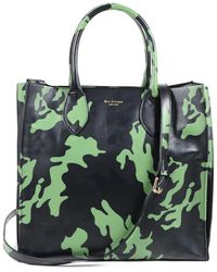 Dee Ocleppo Dee Camouflage Holdall Leather Tote - Green