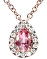 Diana M. Jewels . Fine Jewelry 18k Rose Gold Necklace - Pink