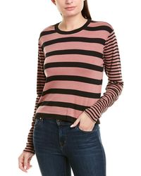 Splendid Long Sleeve Crop Tee - Pink