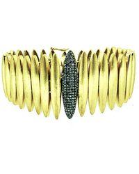 Arthur Marder Fine Jewelry 18k Over Silver 0.70 Ct. Tw. Diamond Bracelet - Yellow