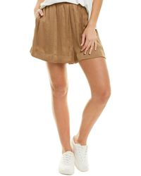 Vince Pleated Pull-on Short - Brown