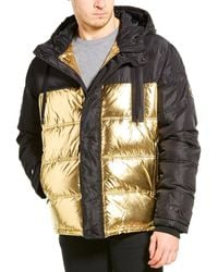 Versace Jeans Couture Quilted Down Coat - Black