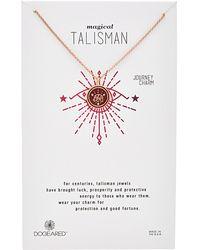 Dogeared - Talisman 14k Rose Gold Over Silver Enamel Elephant Necklace - Lyst