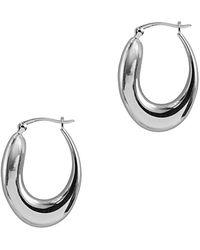 Argento Vivo Silver Hoops - Metallic