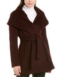 Trina Turk Trina By Amelia Wool-blend Wrap Coat - Red