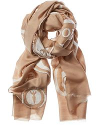 Chloé Embroidered Wool & Silk-blend Scarf - Brown