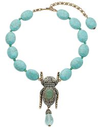 Heidi Daus - Crystal Bug Necklace - Lyst