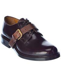 Valentino Valentino Garavani Leather Derby Shoe - Brown