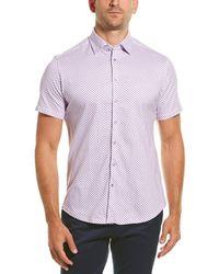 Stone Rose Button-down Shirt - Purple