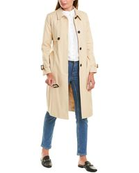 Vince Camuto Belted Trench Coat - Grey
