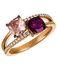 Le Vian 14k Rose Gold 1.74 Ct. Tw. Diamond & Gemstone Ring - Multicolour
