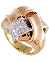 Damiani - 18k Tri-color 0.71 Ct. Tw. Diamond Ring - Lyst