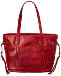 Frye Melissa Leather Carryall Tote - Red