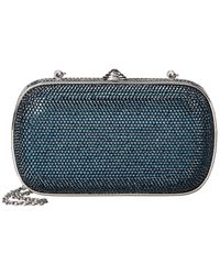 Judith Leiber Full Beaded Rectangle Clutch - Blue