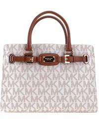 b0232f4e4bad Lyst - MICHAEL Michael Kors Medium Hamilton Saffiano Leather Bag in ...
