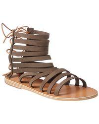 Ancient Greek Sandals Sandals Galatia Leather Sandal - Green