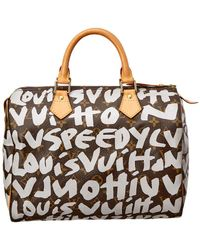 Louis Vuitton - Limited Edition Stephen Sprouse Grey Graffiti Monogram Canvas Speedy 30 - Lyst