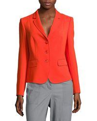 Basler Solid Notch-lapel Jacket - Red