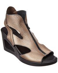 Arche Vahiro Leather Wedge Sandal - Multicolour
