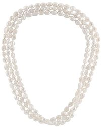 Splendid 9-10mm Freshwater Pearl Necklace - Metallic
