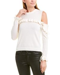 The Kooples Cold-shoulder Wool Sweater - White