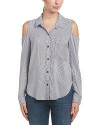 Splendid Cold-shoulder Shirt - Blue