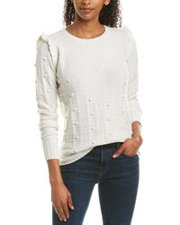 Autumn Cashmere Cashmere & Wool-blend Sweater - White