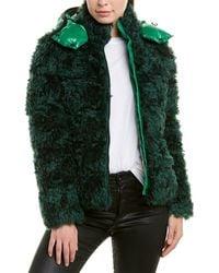Moncler Badyp Mohair-blend Down Coat - Green