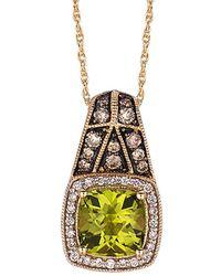 Le Vian - ? 14k 1.76 Ct. Tw. Diamond & Peridot Necklace - Lyst