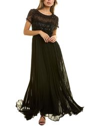 JS Collections Beaded Gown - Black
