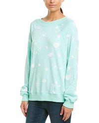 Wildfox Paint Splatter Sweatshirt - Blue