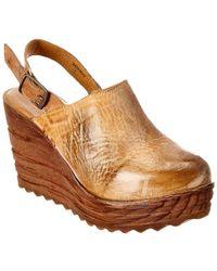 Bed Stu Parma Leather Wedge - Brown