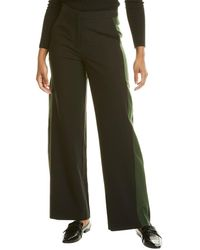 Chinti & Parker Colorblocked Wool Trouser - Black