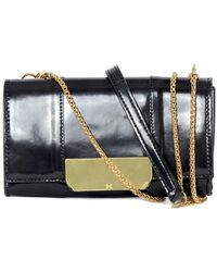 Halston - Leather Continental Wallet On A Chain - Lyst