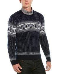 Brooks Brothers Holiday Fairisle Wool-blend Crewneck Sweater - Blue