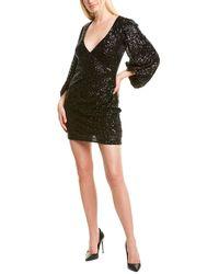 Badgley Mischka One33 Social Sequin Cocktail Dress - Black