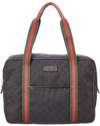 Gucci Black Gg Supreme Canvas Briefcase