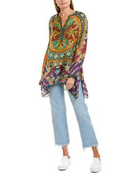 Johnny Was Silk Tunic - Blue