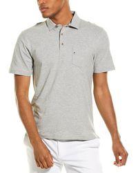 Tailor Vintage Airotec Stretch Slub Jersey Polo Shirt - Grey