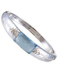 Roberto Coin 18k Ruby And Topaz Bangle - Blue