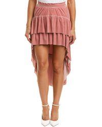 MISA Los Angles Zana Midi Skirt - Pink