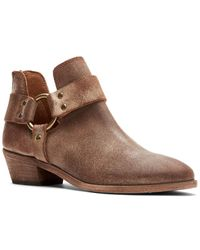 Frye Ray Harness Leather Booties - Brown