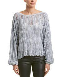Splendid Dropped-shoulder Sweater - Blue