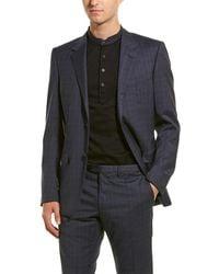 Lanvin 2pc Evolution Wool Suit - Blue