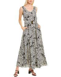 Lafayette 148 New York Memphis Silk Maxi Dress - Black