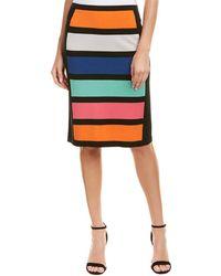 Joan Vass Pencil Skirt - Multicolor